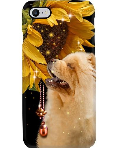 Chow chow magic sunflower phone case