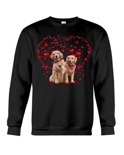 Golden retriever couple love day shirt
