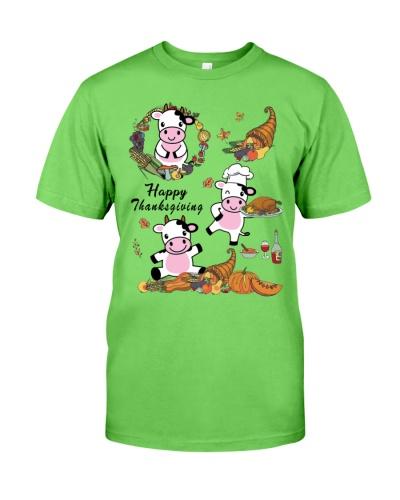 Cow happy thanksgiving