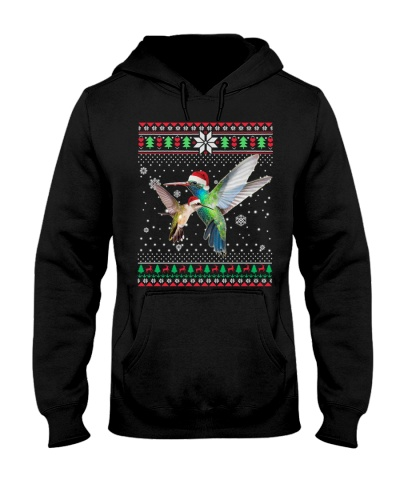 Two Hummingbird Ugly Christmas Sweater