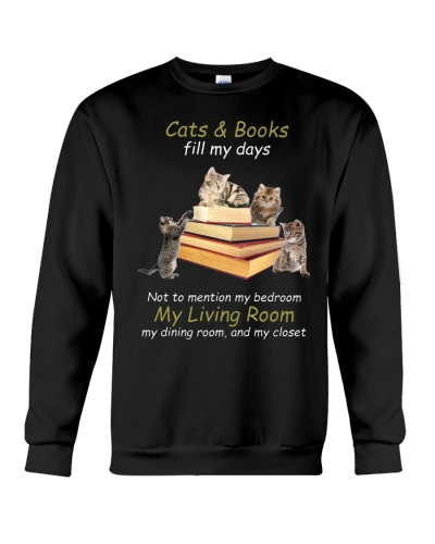Cat and book fill my days