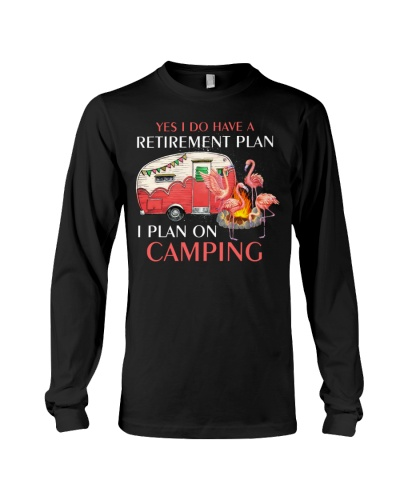 Flamingos plan on camping