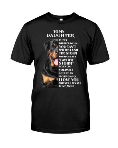 Yo my daughter i am the strom Rottweiler