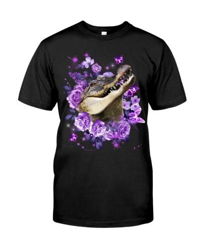 Crocodile purple flowers