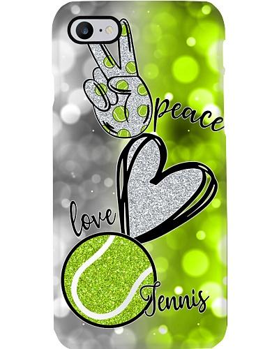 tennis live in peace phone case