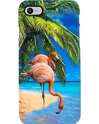 Flamingo beach phone case