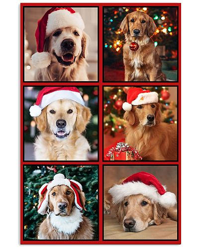 dt golden retriever merry christmas and happy new