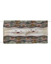 Monica Coton de Tulear boho pattern Cloth face mask front