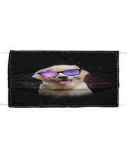 TH 30 Golden Retriever Galaxy Glasses Cloth face mask front
