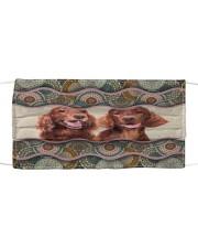 Monica Irish setter boho pattern Cloth face mask front