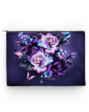 Butterfly purple bag Accessory Pouch - Large thumbnail