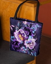 Butterfly purple bag All-over Tote aos-all-over-tote-lifestyle-front-02