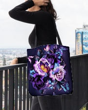 Butterfly purple bag All-over Tote aos-all-over-tote-lifestyle-front-05