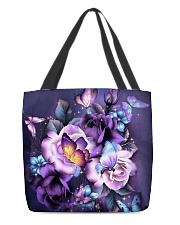 Butterfly purple bag All-over Tote back