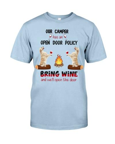 Bring Wine We Will Open The Door Golden Retriever