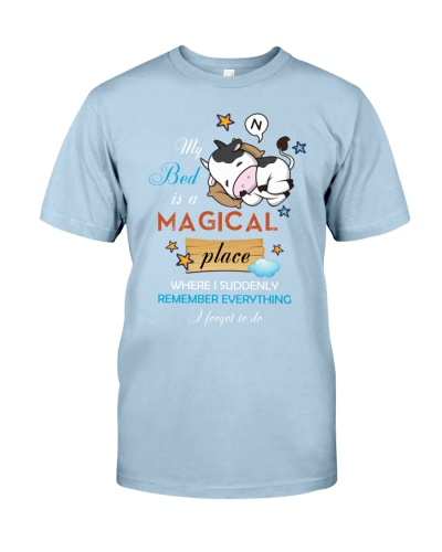My bed is a magical place Cow shirt