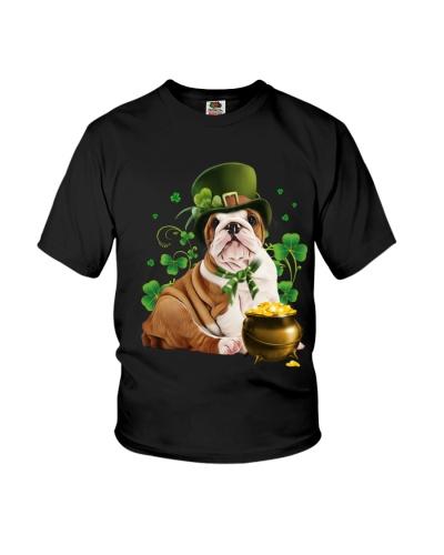 Bulldog puppy patrick day lucky shirt