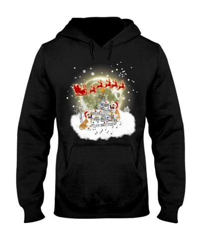 Qhn 3 Christmas Music Tree Corgi Hoodie