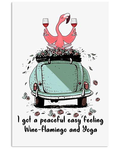 Flamingo wine and yoga