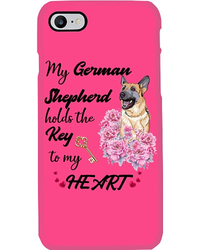 SHN Holds the key to my heart German Shepherd mug