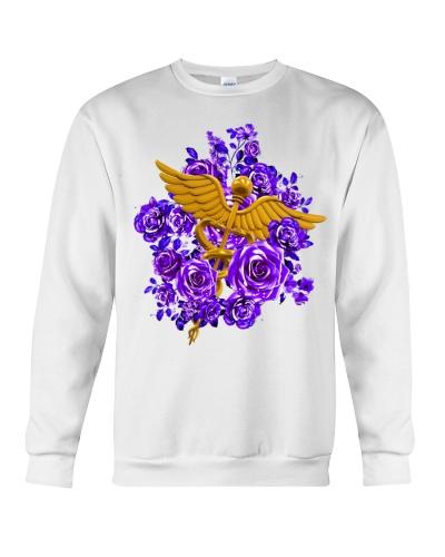 Nurse purple flower shirt