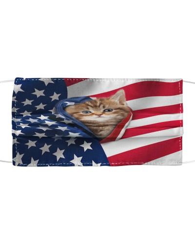 SHN 10 Opened American flag Cat mask