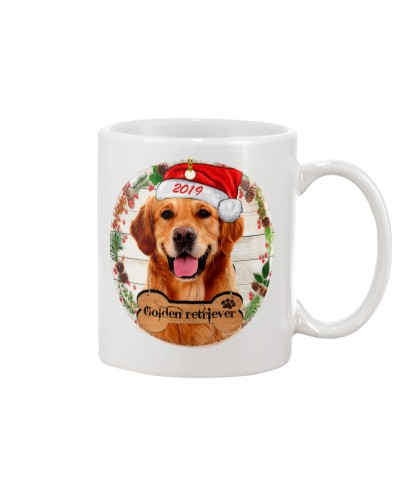 Golden retriever merry christmas 2019 mug