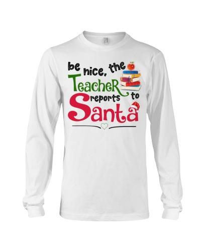 Be nice the teacher reports to santa