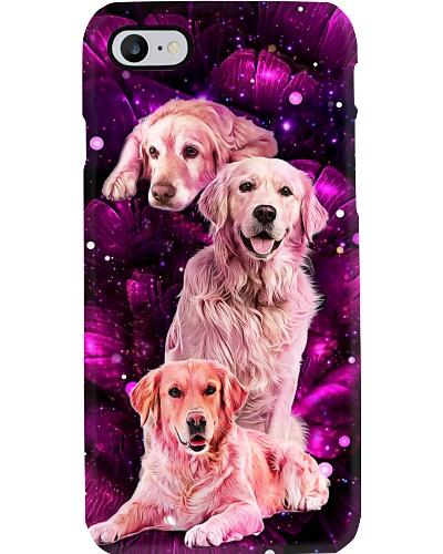 Magic galaxy rose Golden Retriever phone case