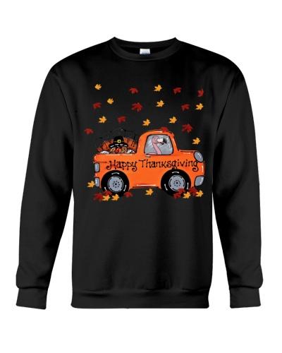 Flamingo thanksgiving car