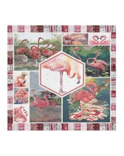 All About Flamingos Cloth face mask aos-face-mask-coverlet-lifestyle-front-02