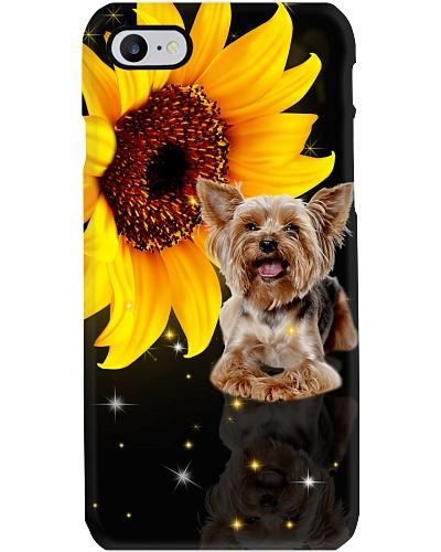 Sunflower mirror twk yorkshire yorkie phone case