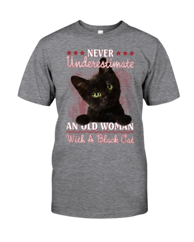 Black cat never underestimate old woman