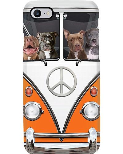 Pitbull peace car phone case