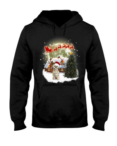 Qhn 3 Christmas Sweet Home Shih Tzu Hoodie