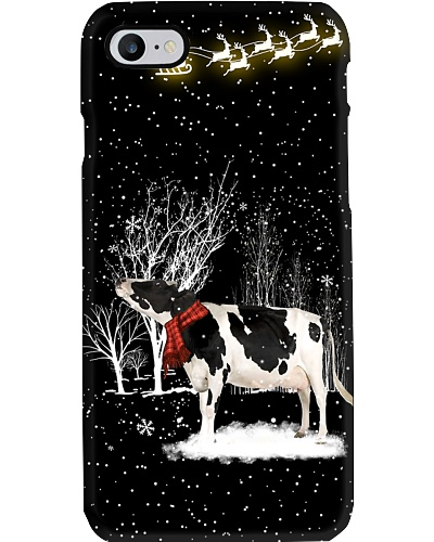 Cow look at the light sky phone case