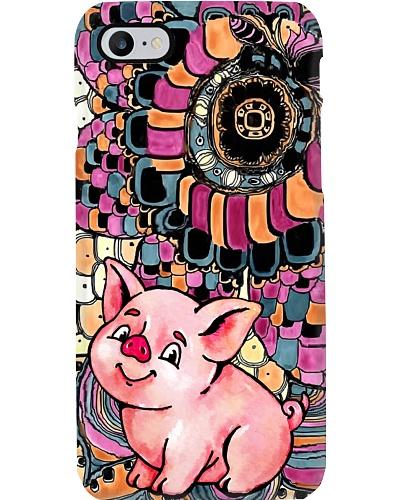 Pig cute floral pattern