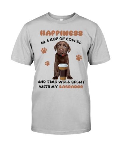 Coffee time well spent Choco Labrador Retriever