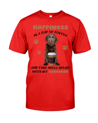 Coffee time well spent Choco Labrador Retriever