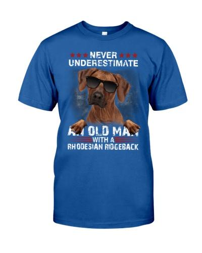 Rhodesian ridgeback never underestimate an old man