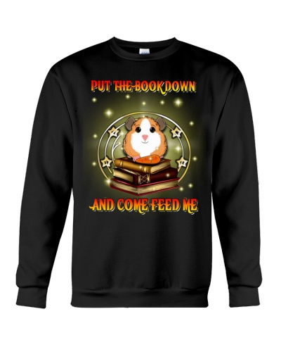 SHN Put book down come feed me Guinea pig shirt