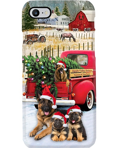 SHN 10 Christmas red truck German Shepherd case
