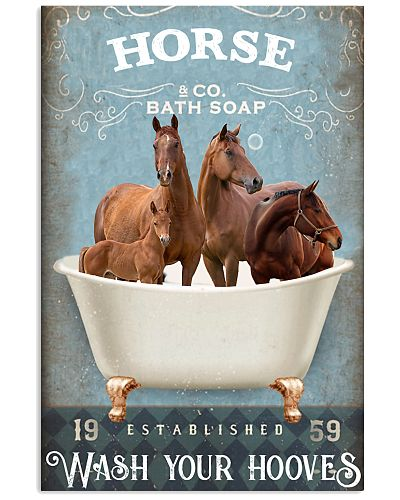 Horse wash your hooves poster
