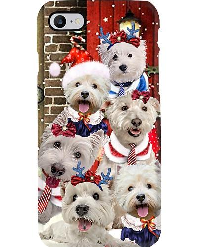West highland white terrier hello christmas case