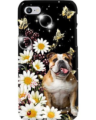 English bulldog daisy gyphsophia phone case