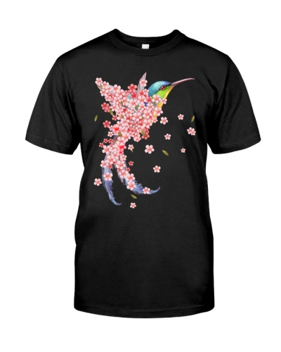 Humming bird Sakura blossom pink one