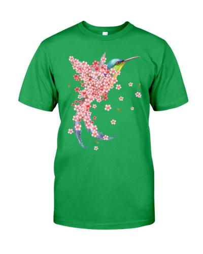 Humming bird Sakura blossom pink one
