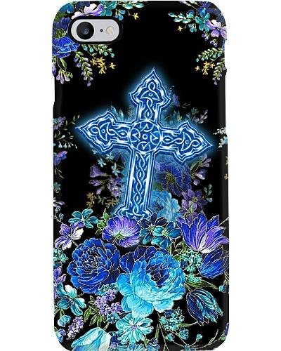 SHN 10 Blue peony Bibble Cross