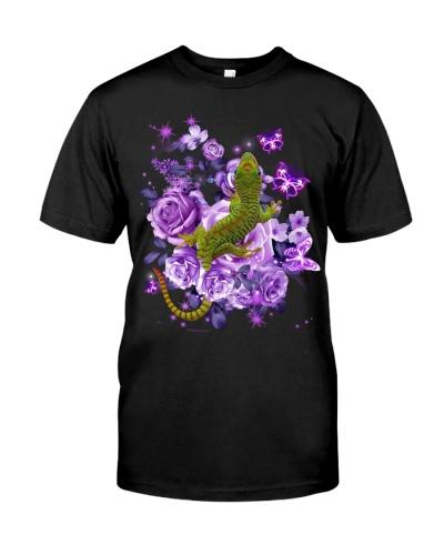 Gecko purple flowers