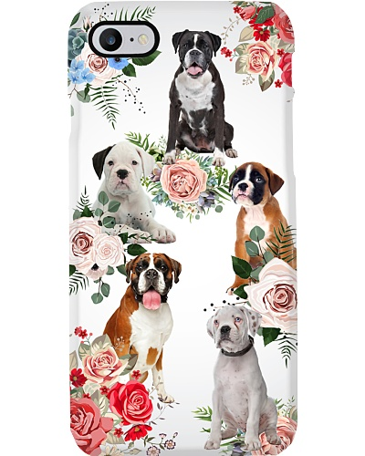 Boxer flowers phone case
